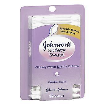 Johnsons sikkerhet vattpinner for babyer og barn, 55 ea