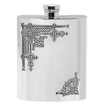 Gothic Pewter Hip Flask - 6oz
