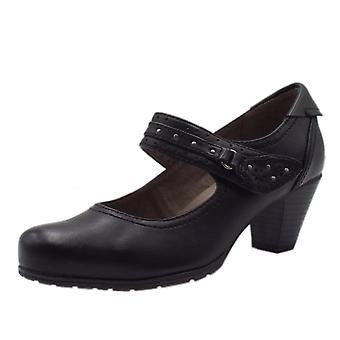 Soft Line 24463 Secrets Wide Fit Smart-casual Mary-jane Mid Heel Shoes In Black
