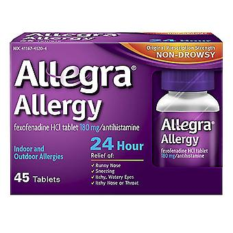 Allegra 24 hour allergy, 180 mg, tablets, 45 ea