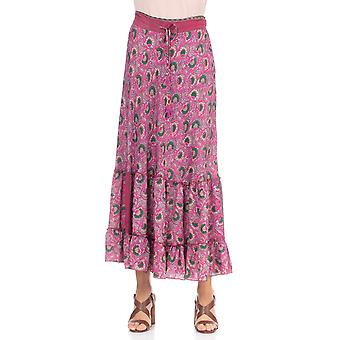 Printed skirt with elastic waist