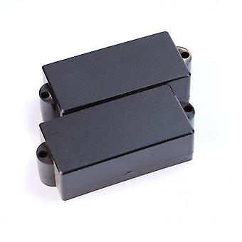 WD Music P Bass Pickup Cover Closed Black (set Of 2)
