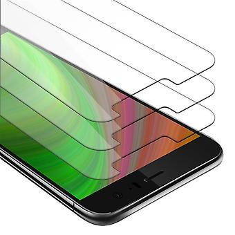 Cadorabo 3x Tank Foil for HTC U11 - Protective Film in KRISTALL KLAR - 3 Pack Tempered Display Protective Glass in 9H Hardness with 3D Touch Compatibility