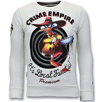 Sweater - Crime Empire - White