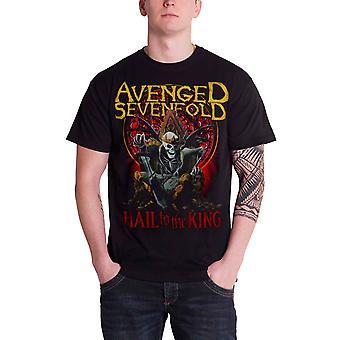Avenged Sevenfold T Shirt Hail To The King New Day se eleva nuevo oficial Hombres Negro