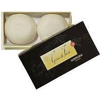 Campostrini Gocce di  Fiori Luxury Hand Made 2 Round Soaps Gift Boxed
