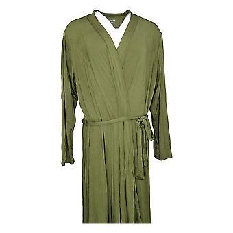 North Style Women's Robe Tie Belt Ripple Cascade To Hem Green