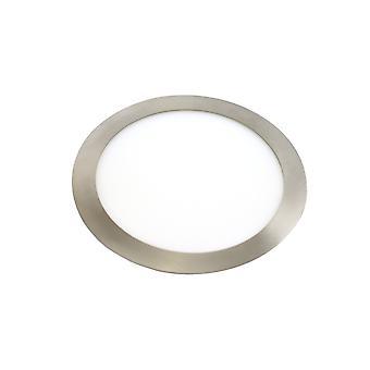 Jandei 2x Downlight LED 18W Runde forsænket hvidt lys 6000K, Aluminium Ring Steel Matte, For Hollow 200-205mm