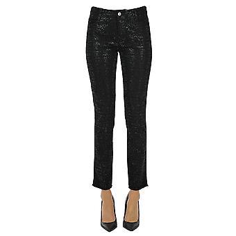 Ermanno Scervino Ezgl078056 Women's Black Cotton Jeans