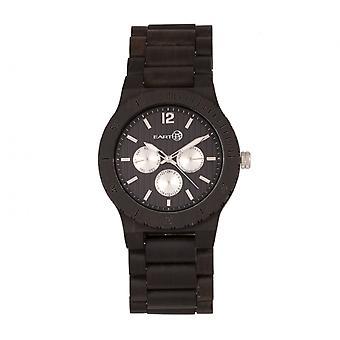 Earth Wood Bonsai Bracelet Watch w/Day/Date - Dark Brown