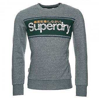 Superdry Core Logo Stripe Crew UB Sweatshirt Grey V9V