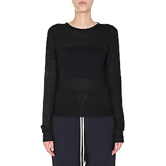 Rick Owens Rp20f2624kai09 Women's Black Wool Sweater