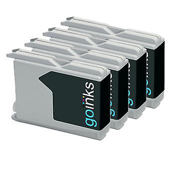 4 zwarte inktcartridges ter vervanging van Brother LC970Bk & LC1000Bk Compatible/non-OEM by Go-inkten
