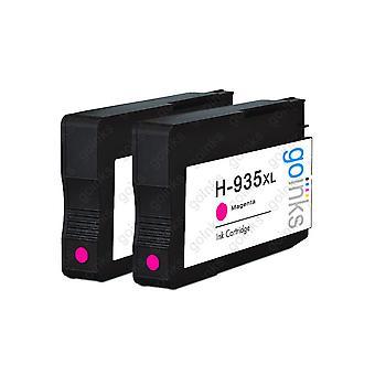 2 cartuchos de tinta de impresora HP 935M (HP935XL) compatibles con Magenta