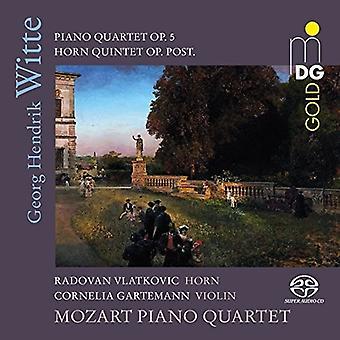 Witte / Gartemann / Vlatkovic - Piano Quartet 5 [SACD] USA import