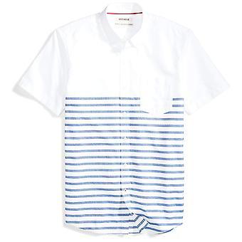 Goodthreads Men&s Standard-Fit Krótki rękaw umieszczony-stripe kieszonkowy oxford shirt...