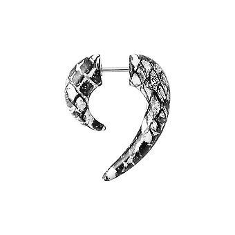 Marble Spiral Claw Fake Ear Plug