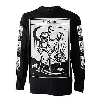Darkside - death tarot - mens long sleeve top -black