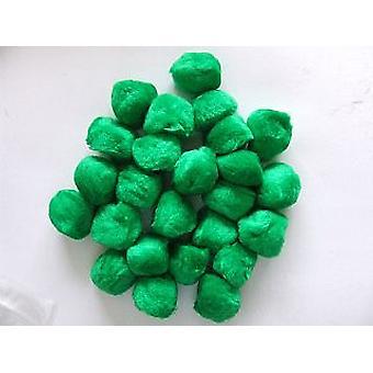 8 Groene 50mm Craft Pom Poms