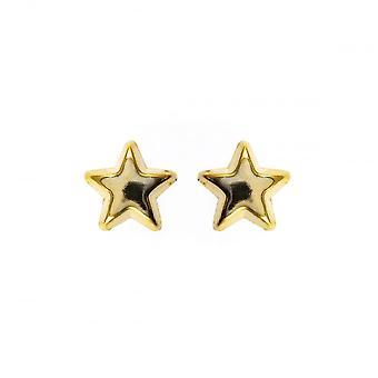 Eternity 9ct Gold Star Kids Stud Earrings