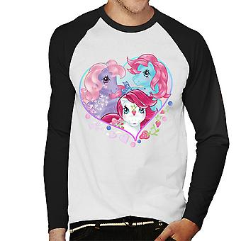 My Little Pony Friendship Love Heart Men's Baseball Long Sleeved T-Shirt