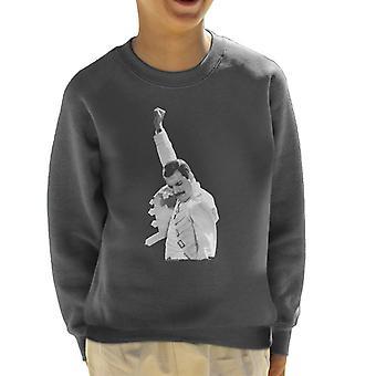 Freddie Mercury Of Queen Live In Newcastle 1986 Kid's Sweatshirt