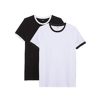 Trouver. M.Apos;s Solid Round Collar Short Sleeve T-shirt, Pack of 2, Multicolore (B...