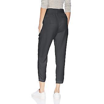 Brand - Daily Ritual Women's Tencel Paper Bag-Waist Pant, Grey, 14