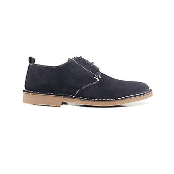 Loake Mojave Navy Suede Leather Mens Derby Shoes