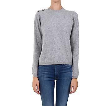 Ganni K1381921 Femme-apos;s Pull en cachemire gris