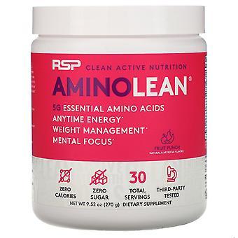 RSP Nutrition, AminoLean, Fruit Punch, 9.52 oz (270 g)