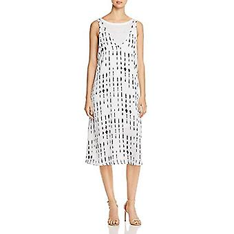 Kenneth Cole Women's 2 Layered Tank Dress, Inkwell/White Chambray, M