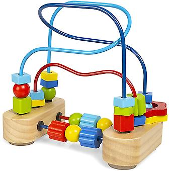Abeec Just Kids Beads Maze - Wooden Toy Abacus for Babies and Toddlers