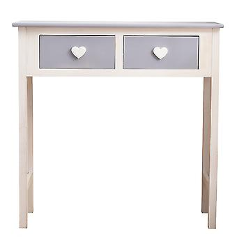 Rebecca Furniture Console Table White Grey 2 Heart 80x80x30 Pomelli Drawers