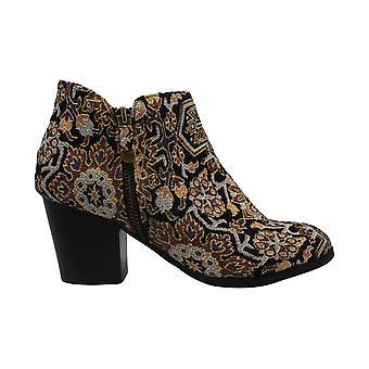 Style & Co. dame masrinaaf stof mandel tå ankel mode støvler