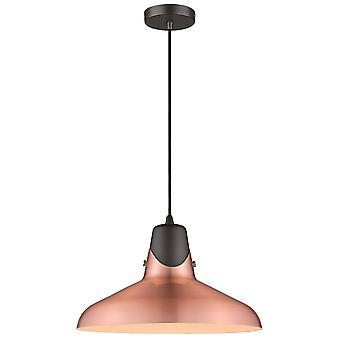 Éclairage de ressort - 1 pendentif de plafond de dôme de lumière noir, cuivre, E27