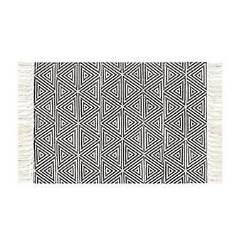 Ručně tkaný koberec pro obývací pokoj, ložnice koberec - geometrická podlahová rohož pro domácnost