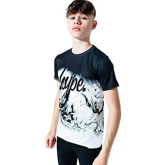 Hype Kids Marble Fade T-Shirt Black 59