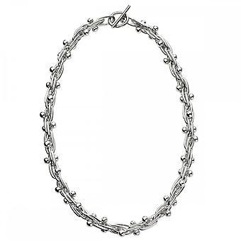 Anfänge Sterling Silber mexikanischen Stil Ball und Bar Halsketten N4336