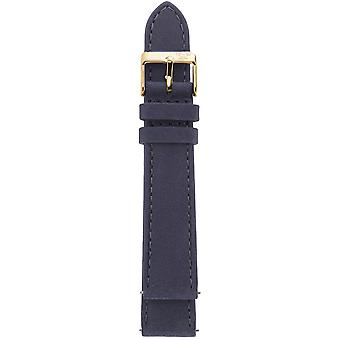Gv2 By Gevril GV218.14.12.9  Yellow Gold Buckle Navy Blue Suede Leather Strap
