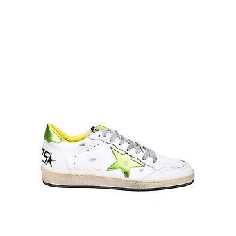 Golden Goose Gmf00117f00038310293 Hombres's zapatillas de cuero blanco