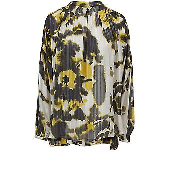 Masai Clothing Badot Yellow Tie Dye Blouse
