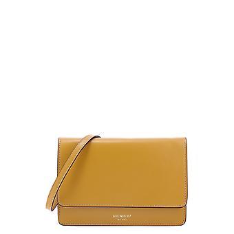 Avenue 67 Travelvit53 Women's Yellow Leather Shoulder Bag