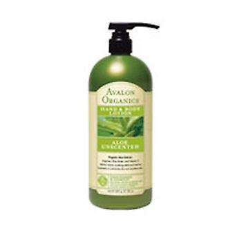 Avalon Organics Hand & Body Lotion, Aloe Unscented, 32 Oz