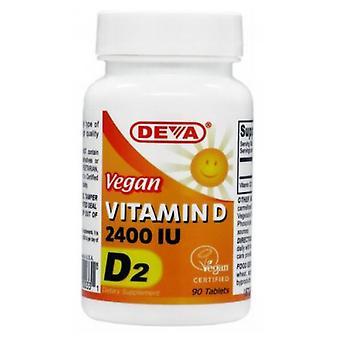 Deva Vegan Vitamins Vegan Vitamin D, 2400 IU, 90 tabs