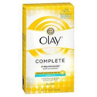 Vicks Olay Complete All Day Uv Defense Moisture Lotion, Sensitive Skin 4 Oz