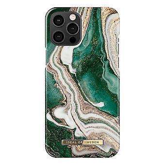 iDeal von Schweden iPhone 12 Pro Max Shell - Golden Jade Marmor