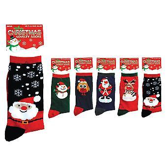 Otterdene Novelty Xmas Socks Mens Asstd