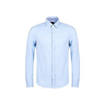 ARMANI EXCHANGE Cotton Oxford Blue Shirt