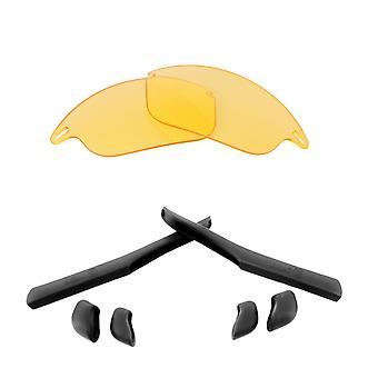 Replacement Lenses & Kit for Oakley Fast Jacket Yellow & Black Anti-Scratch Anti-Glare UV400 by SeekOptics